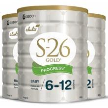 Wyeth 惠氏金装S26婴幼儿奶粉2段 900g 三罐装(包邮,包税)