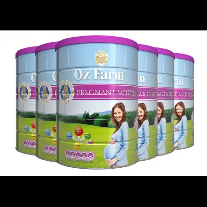 澳洲代购直邮新西兰Oz Farm 含叶酸多维配方孕妇营养奶粉 900g 六罐装(包邮)