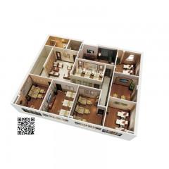 澳洲购物全屋定制集成墙板现代风格办工室会议室话务室客棋牌室房工装方案